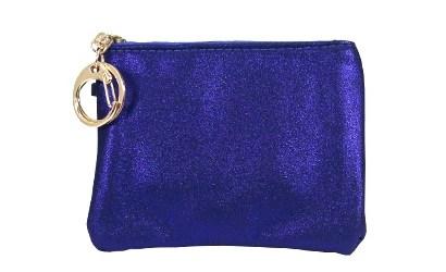 Trendy Portemonnee.Portemonnee Trendy Glitter Blauw Claudies