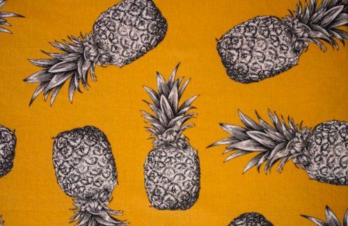 stof ananas geel