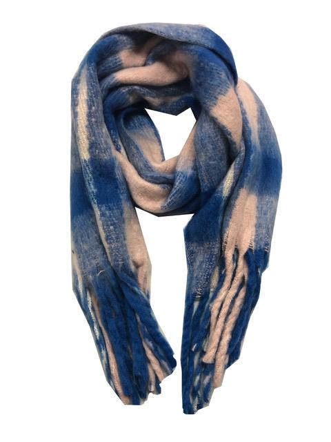 Sjaal blauw rose ruit
