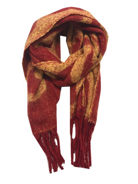 Sjaal rood oker