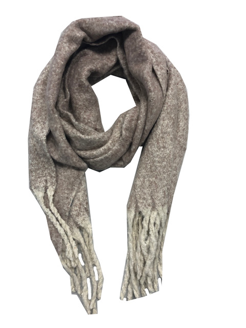 Sjaal zandkleur