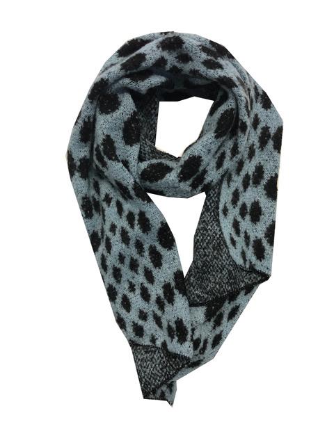 Sjaal zwart blauwe stip