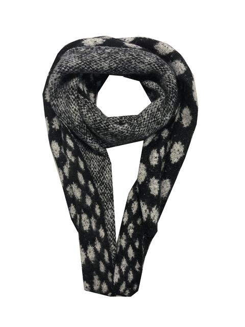 Sjaal zwart wit stip
