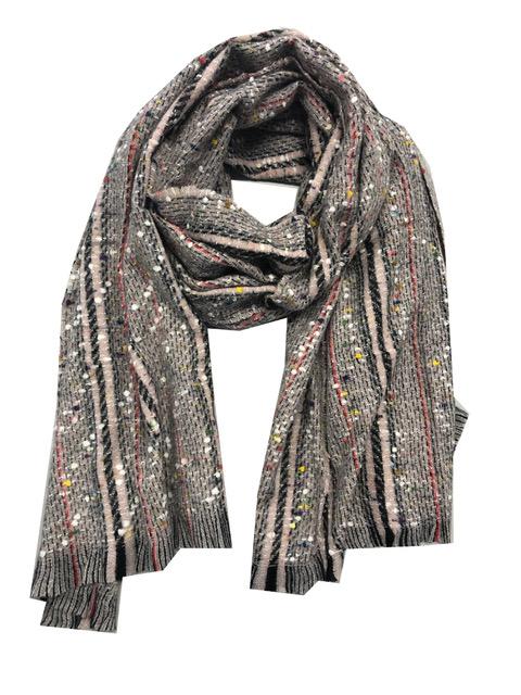 Sjaal gemeleerd grijs