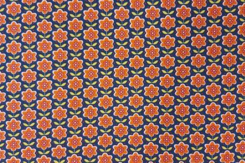 Tricot oranje bloem