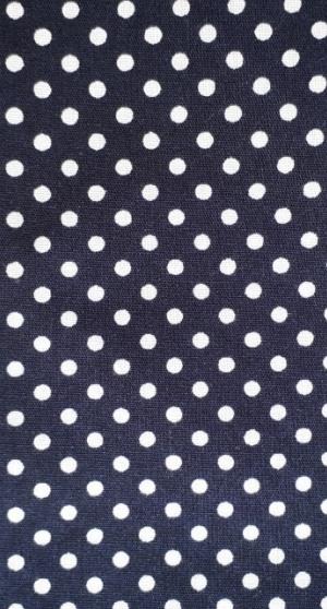Tricot blauw wit stipje