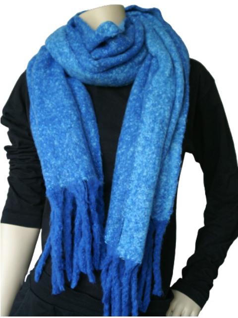 Sjaal blauw gemeleerd