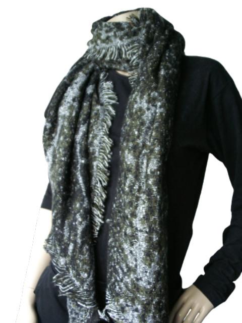 Sjaal groen zwart
