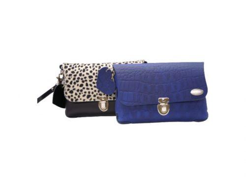 Bella tas blauw en cheetah zwart