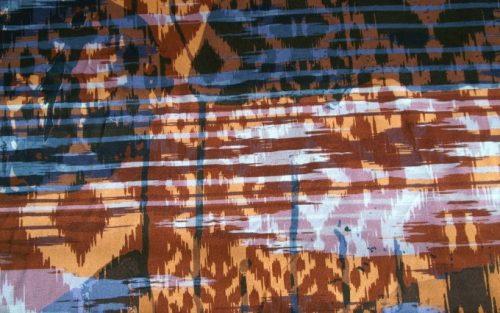 Tricot bruin blauw