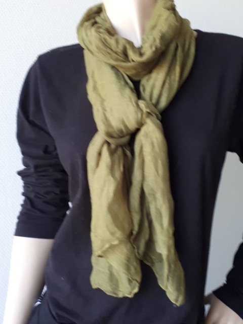 Sjaal groen smal formaatje